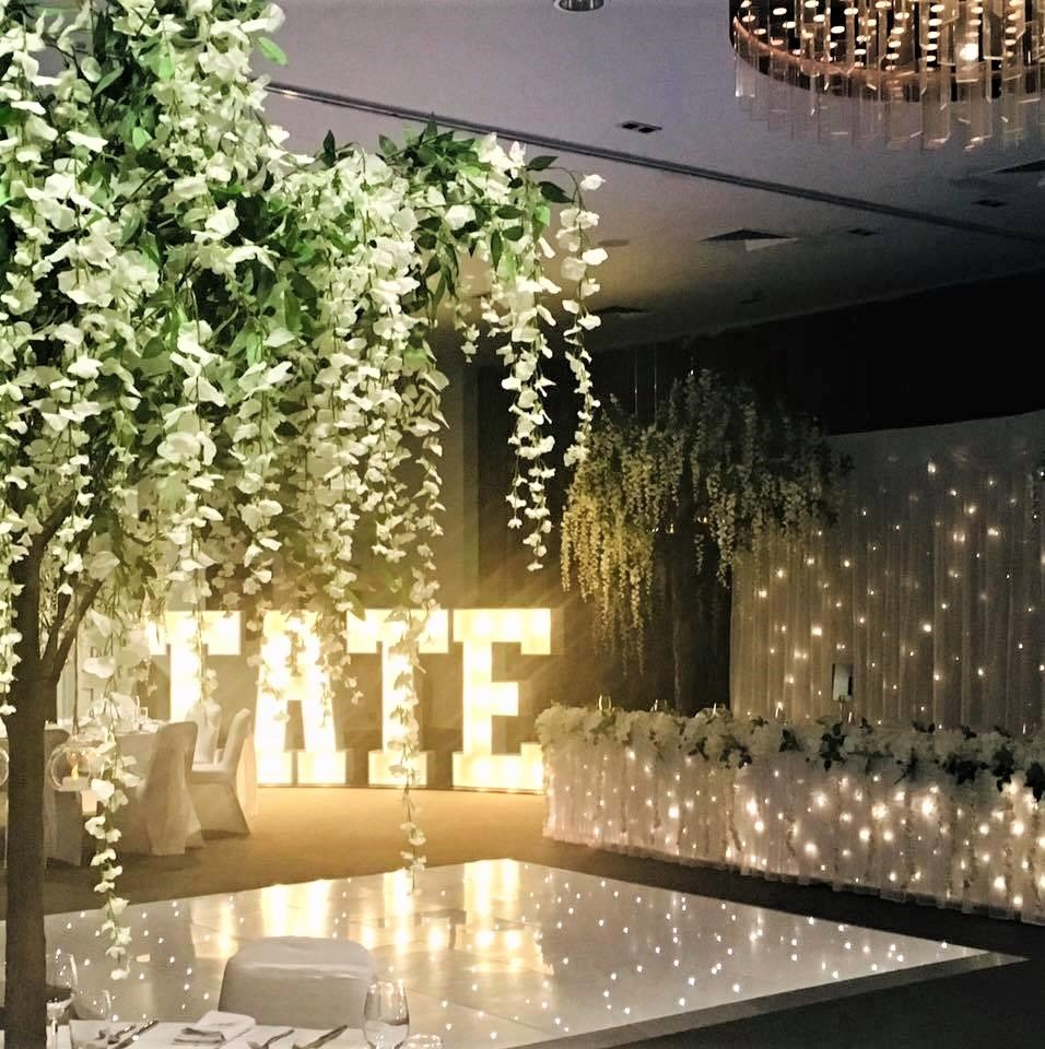 Image of Light-up Letters supplied by Tracy Williamson Design